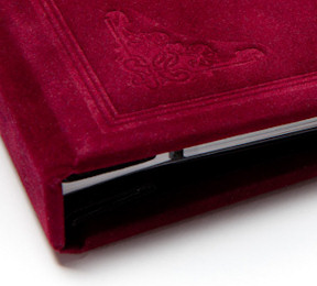 Victorian case bound refined velvet hardcover