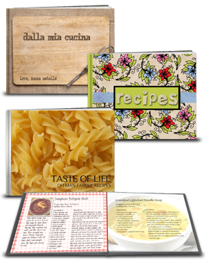 Recipe books created with Picaboo