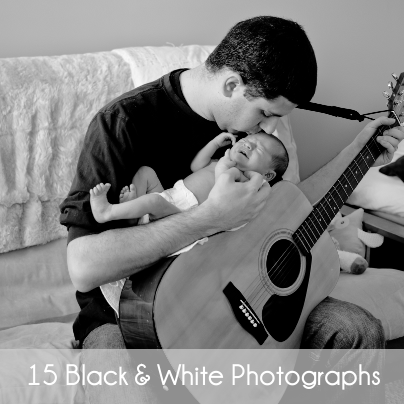 15 black and white photographs