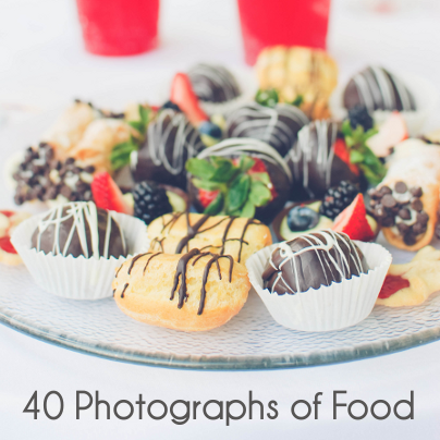 40 photographs of food