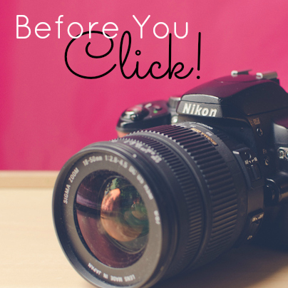 what to think about when taking pictures