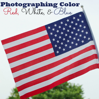 photographing red white blue