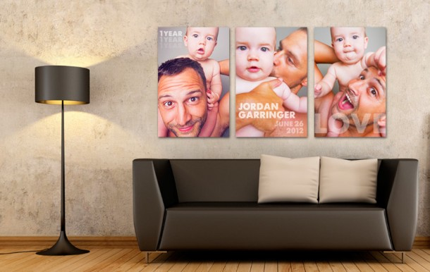 Lovely Triptych Canvas Print Display