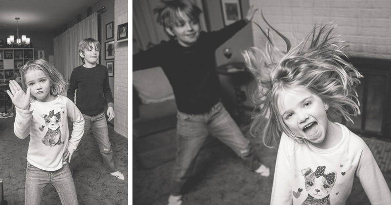 "Mom's scratchy ""Grease"" album inspires a spontaneous family dance party."